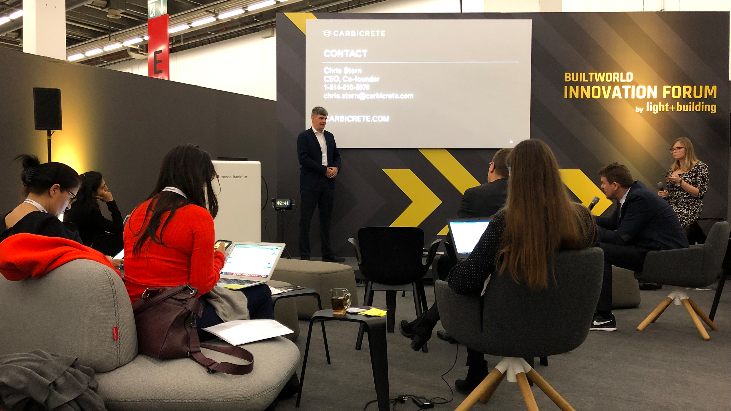 Builtworld Construction Innovation Contest: The two-day prepitch in hall 9.0 of Messe Frankfurt brought together jurors from the best-known established companies in the real estate and construction sectors as well as building technology. (Source: Messe Frankfurt / EBU 62 2019)