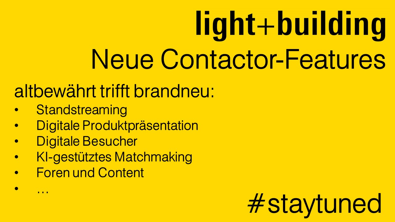 Light + Building Contactor Features