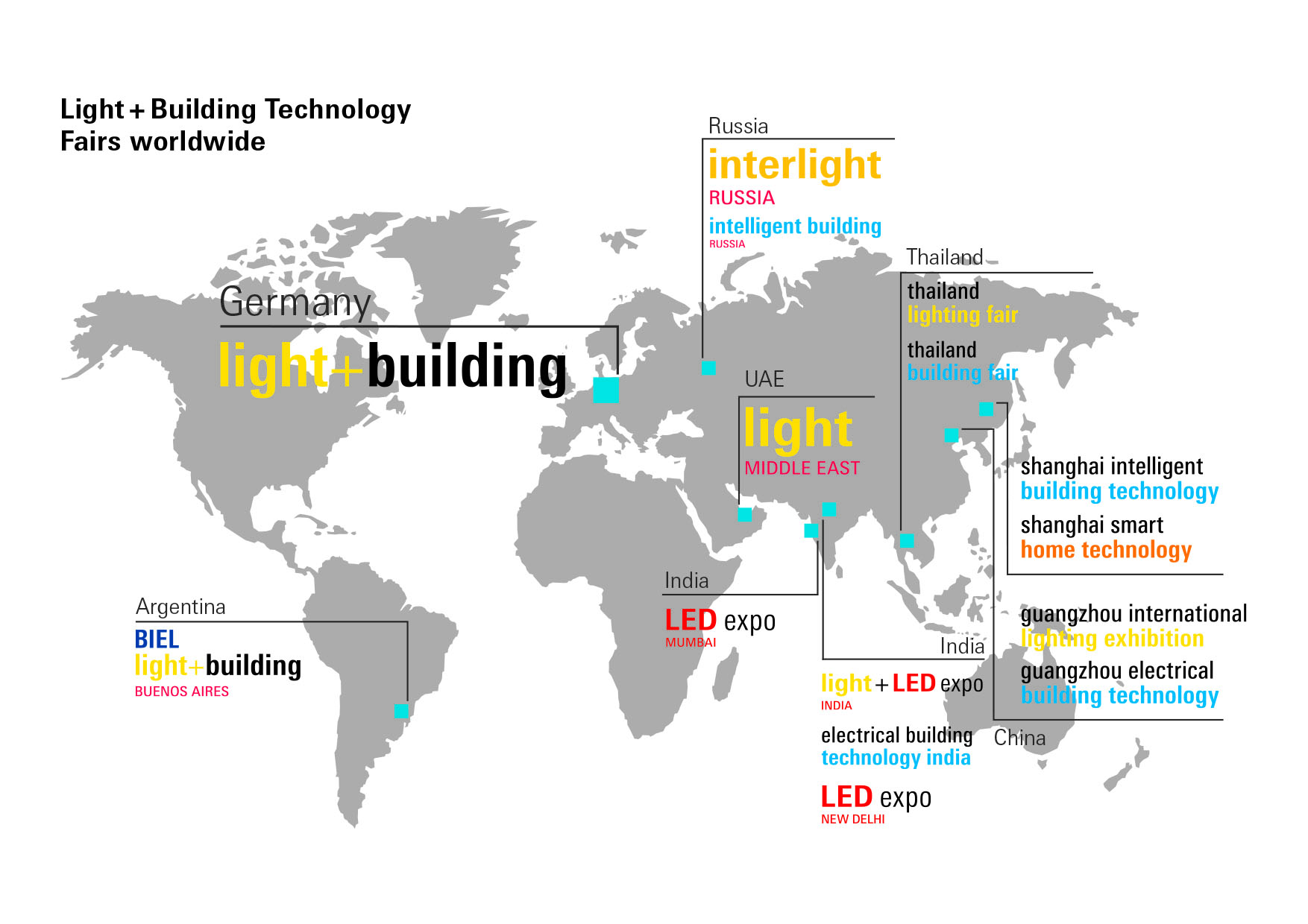 Light + Building Brand map